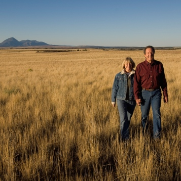 Chuck and M.B. McAfee on their farm near Lewis, Montezuma County Colorado